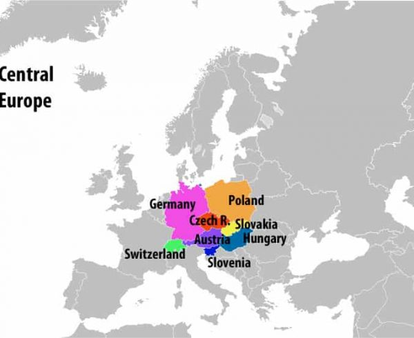 A map of Central Europe
