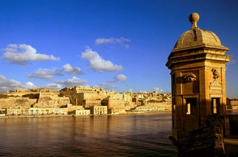 A picture if Valletta in malta