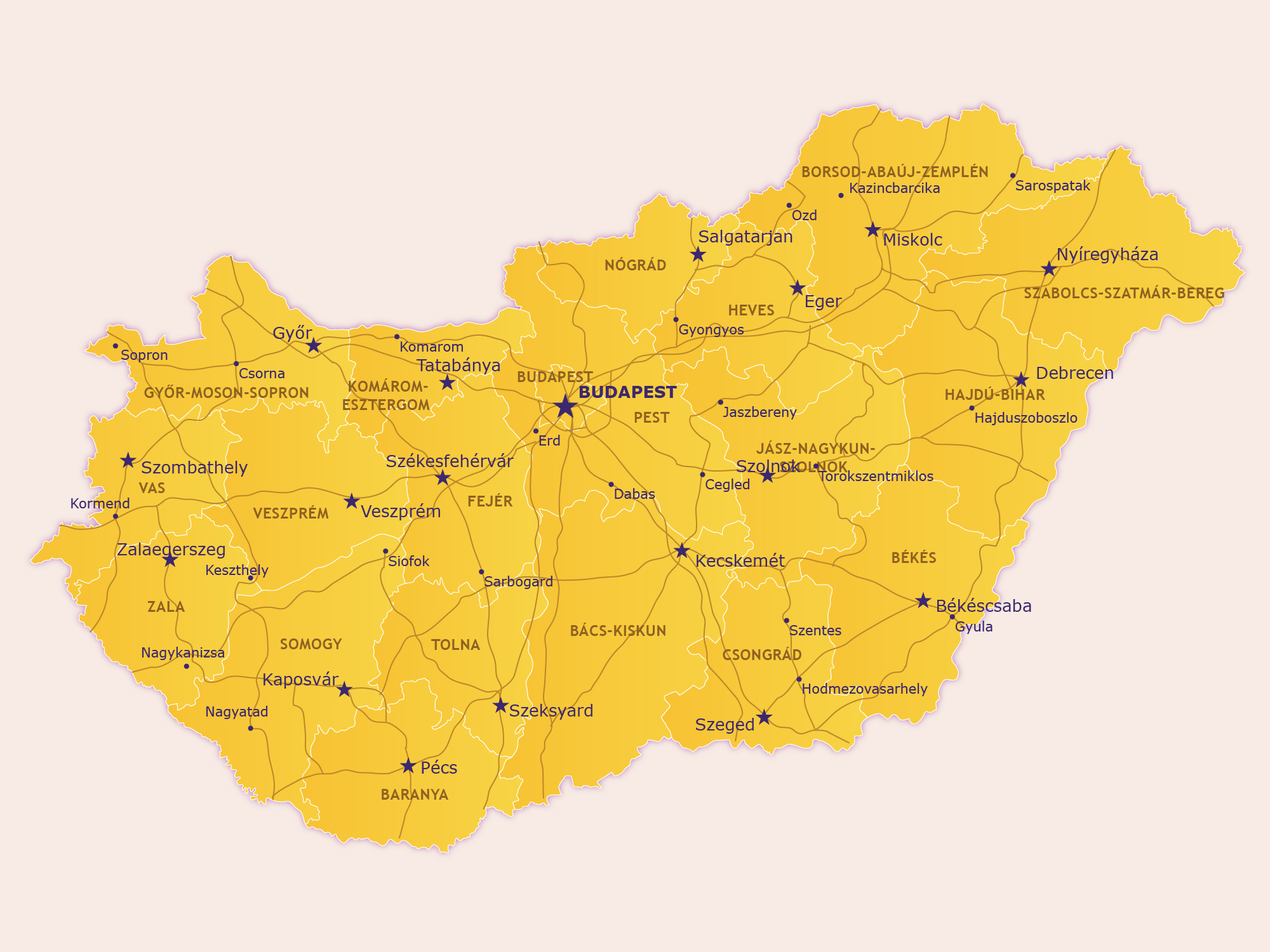 Image of: Map Of Hungary Map Of Europe Europe Map