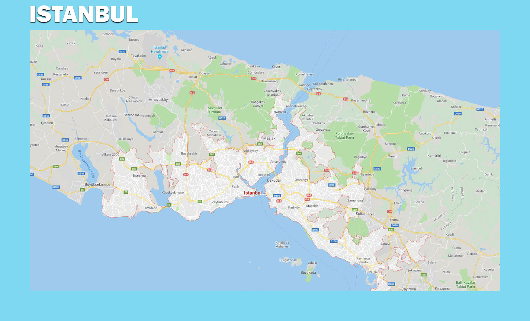 Istanbul | Map of Europe | Europe Map
