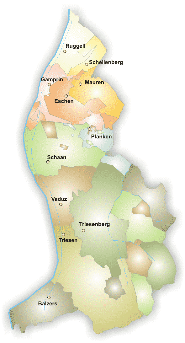 Map of Liechtenstein