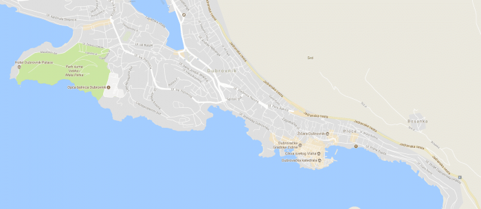 Map of Dubrovnik
