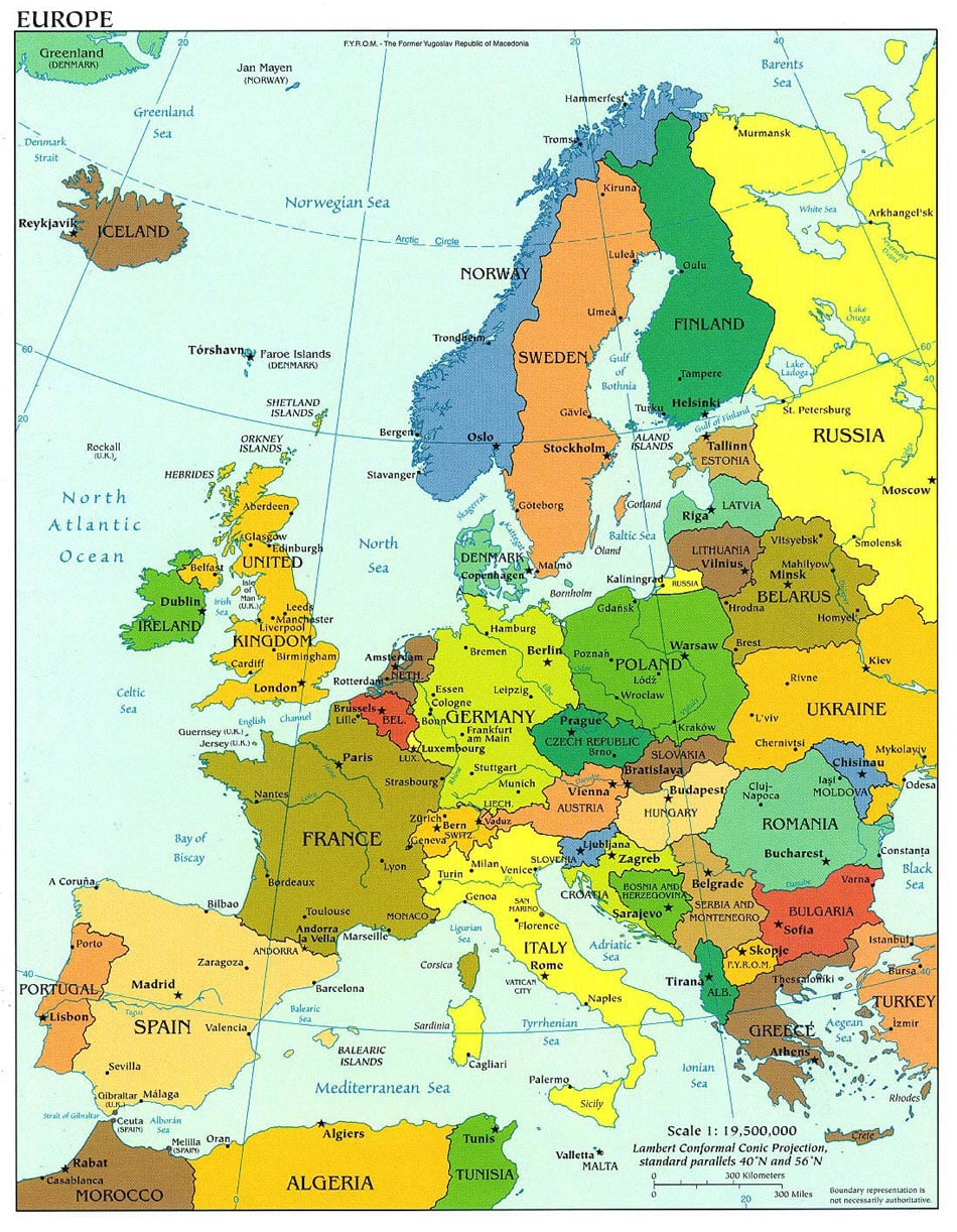 Map of Europe – Europe Map For Travel