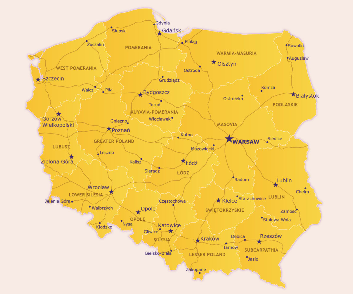 Map of Poland