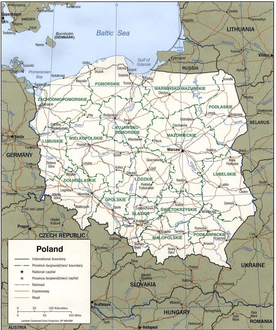 Map Of Poland Map Of Europe Europe Map
