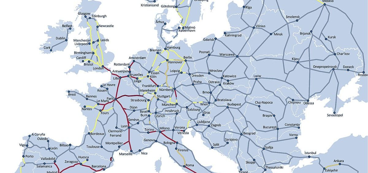 Rail Map Europe | Map of Europe | Europe Map Map Of Roads And Railway Systems In Macedonia on