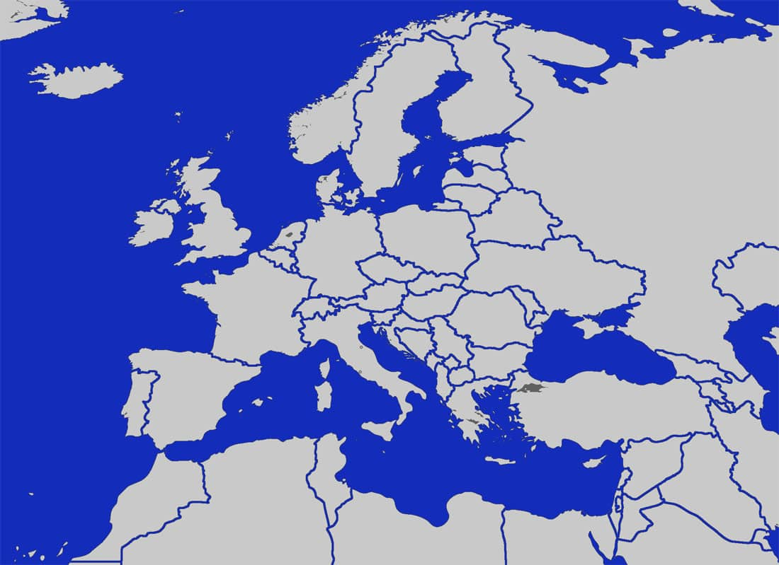 Blank Europe Map With Kosovo