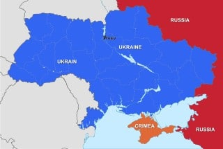 Distances between Ukraine, Crimea and Russia
