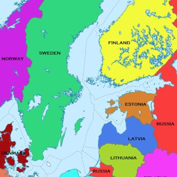 Map of the Baltic Region