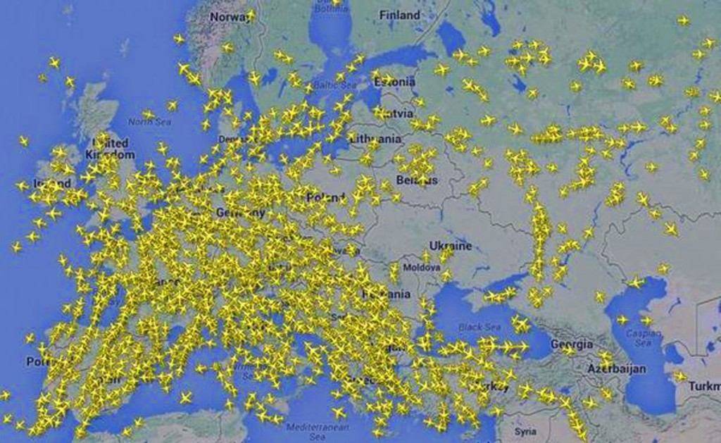 Ukraine airspace after Malaysian airliner was shot down