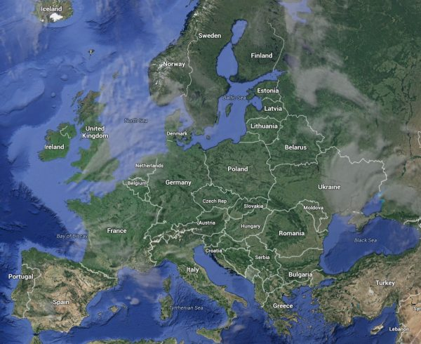 google karta europe Map of Europe 2018 google karta europe