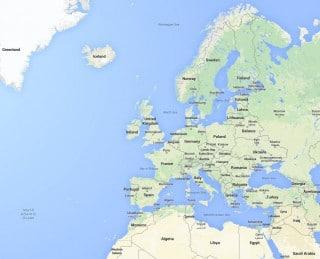 Europe Google Maps