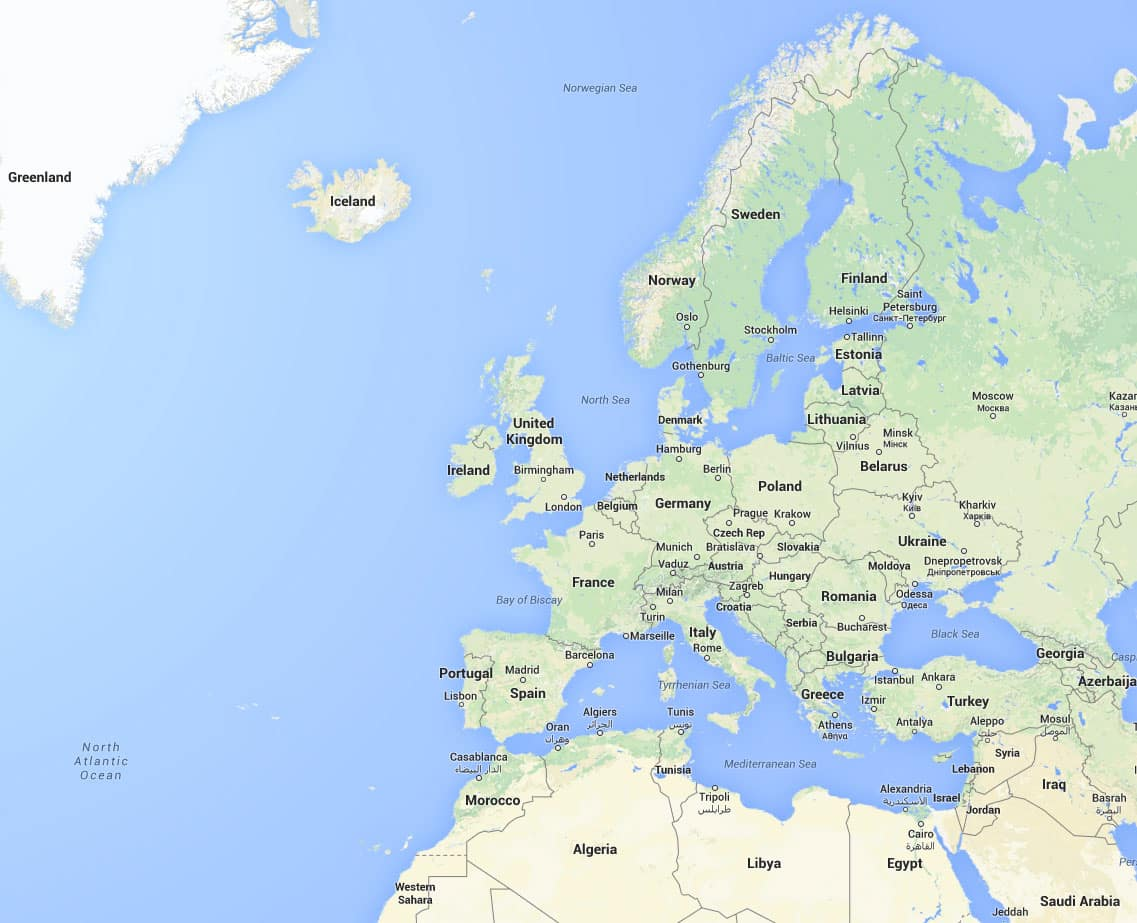 Europe Google Earth And Google Maps - Google maps to and from