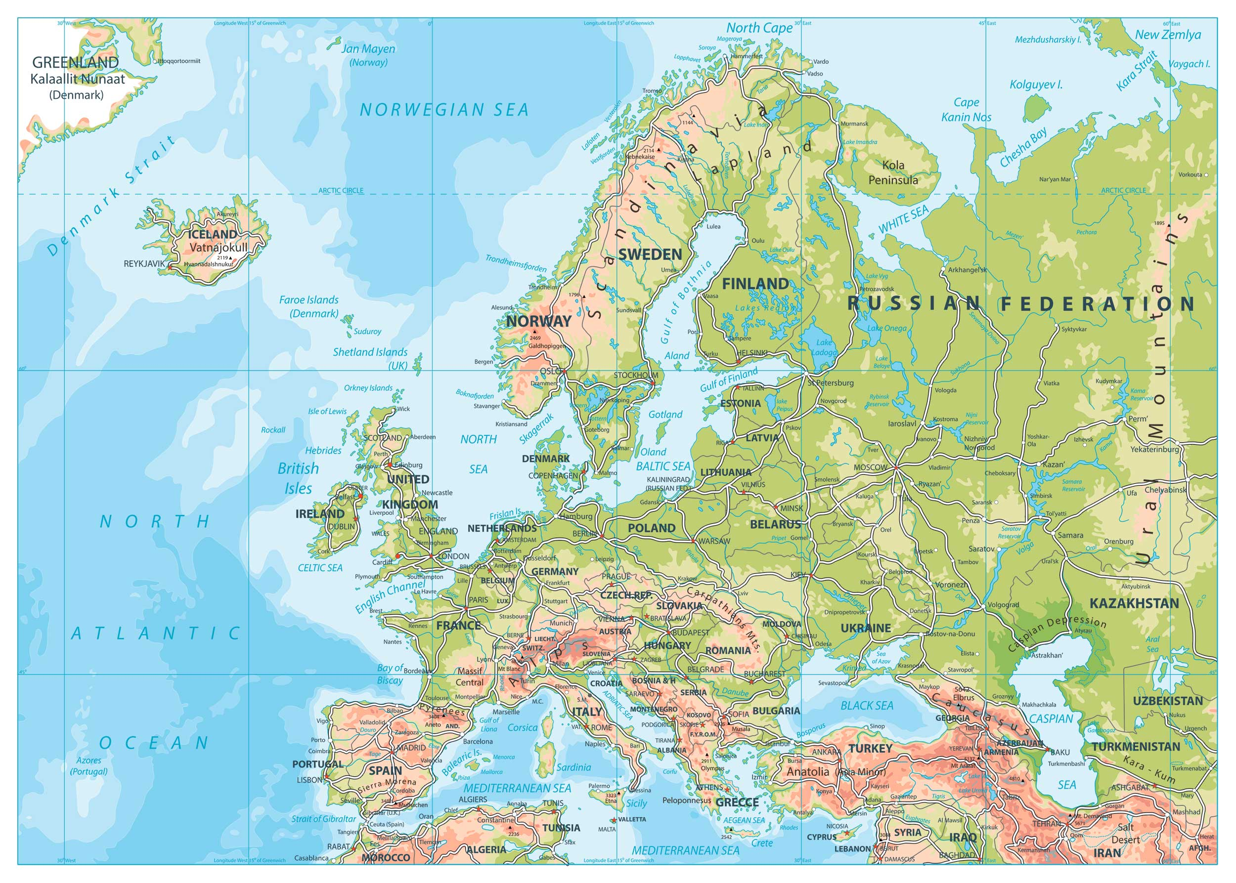 road map of eastern europe Road Map of Europe | Map of Europe | Europe Map