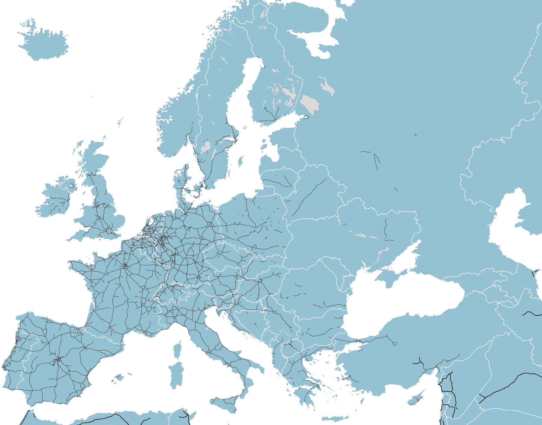Road Map of Europe