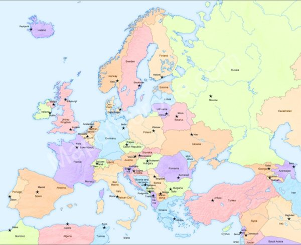 World Map Map Of Europe Europe Map