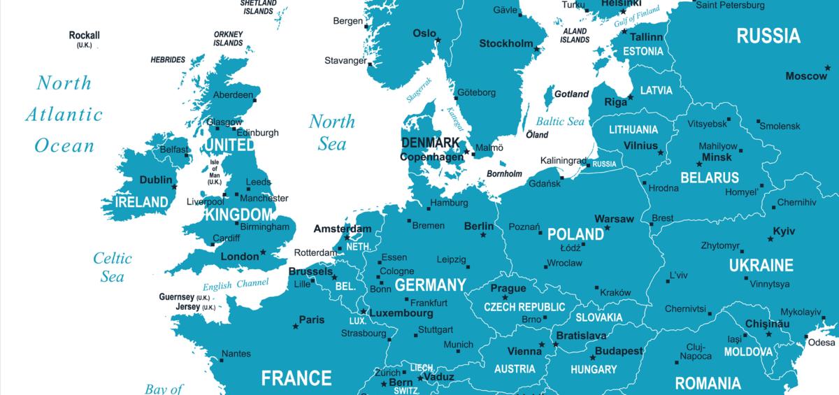 Europe Map 2018