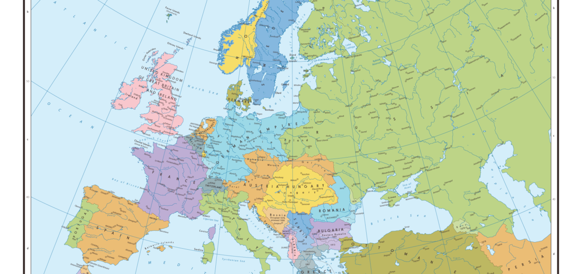 Map of Europe Pre World War One | Map of Europe | Europe Map
