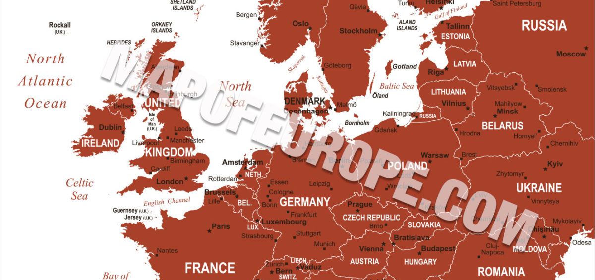 Map of Europe 2019