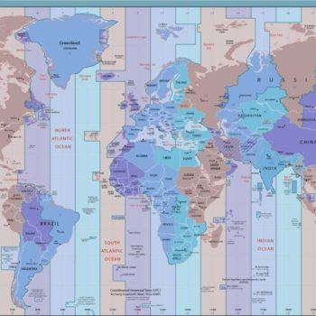 Time Zone World Map