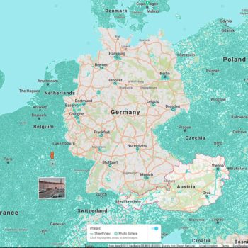 Map of Google Street View Coverage in Germany and Austria